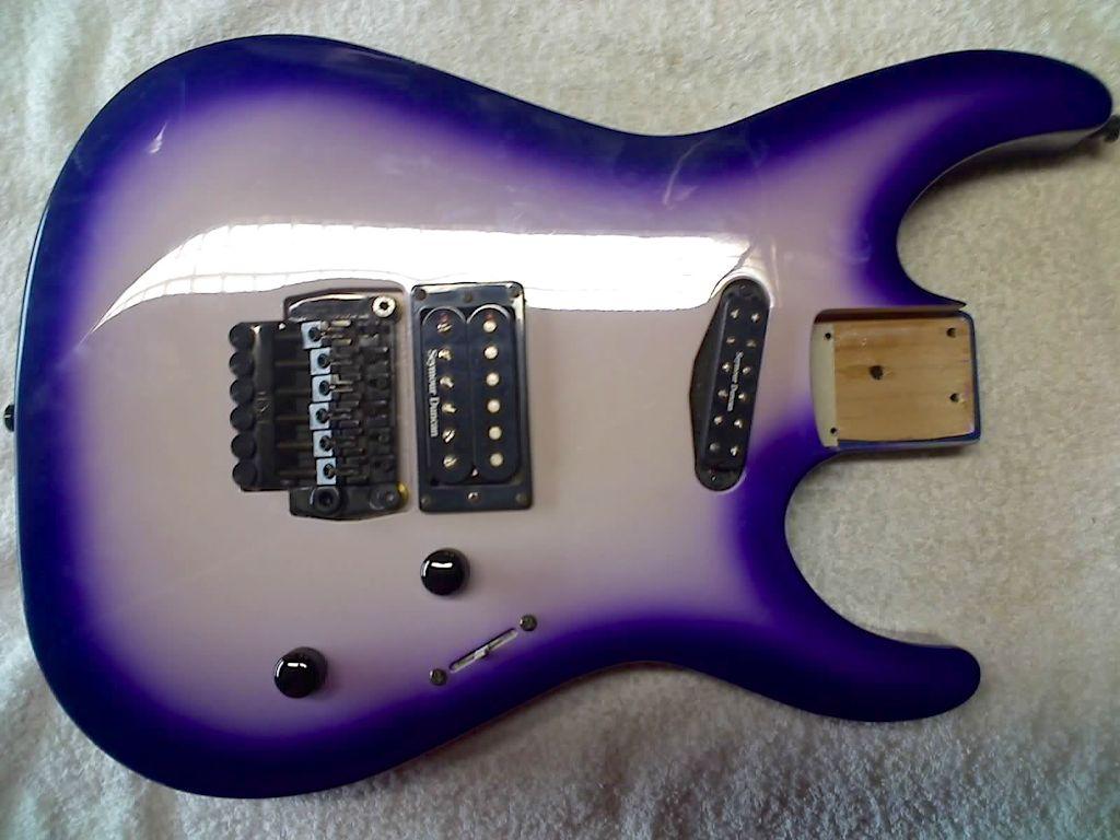 Purple metallic burst