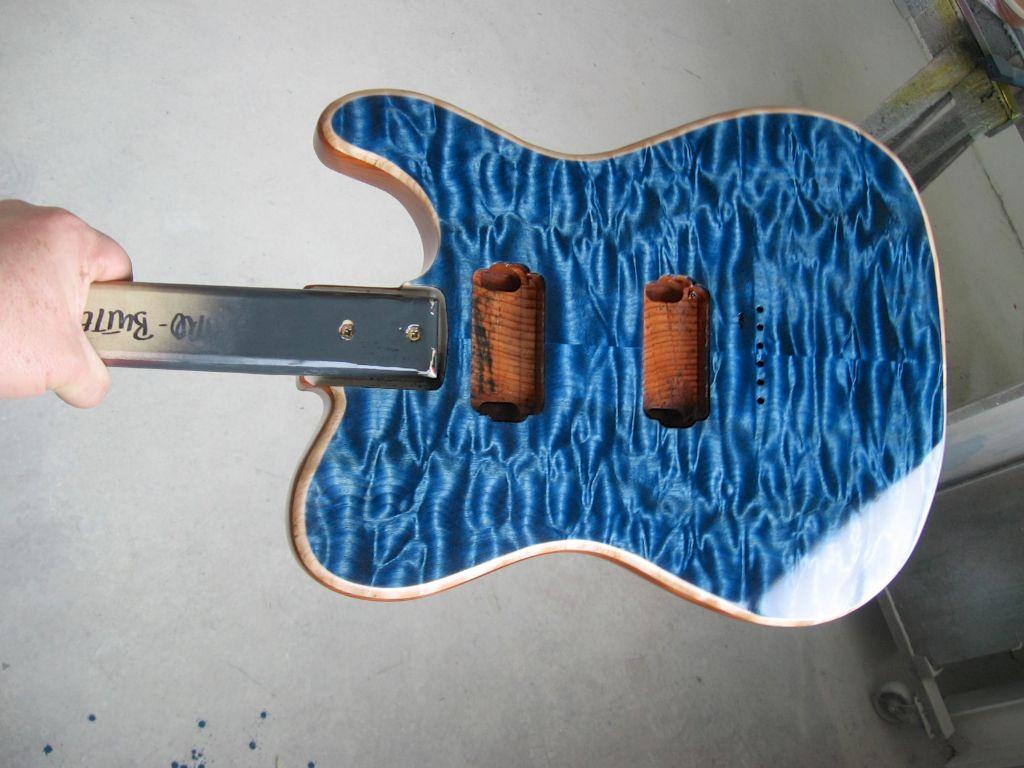 see thru blue dye